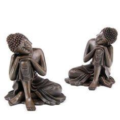 Wood Effect Thai Buddha, Head on Knee: Amazon.co.uk: Kitchen & Home