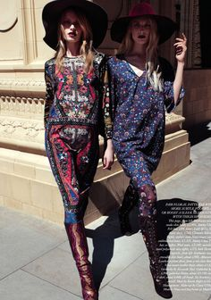 forward march: stephanie hall and nina oud by alessio bolzoni for uk harper's bazaar