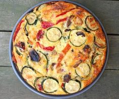 Summer Vegetable Torta (Low Carb and Gluten Free)- great P3 hCG Diet recipe- grain free, gluten free