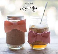 Southern DIY: Bow Tie Mason Jars - Southern Weddings Magazine