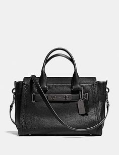 Coach Satchels Swagger Carryall In Nubuck Pebble Leather