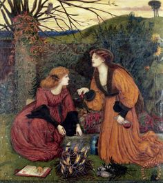 Pharmakeutria (brewing The Love Philtre) Painting by Marie Spartali Stillman