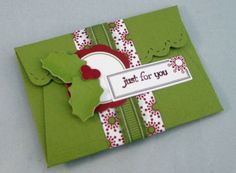 gift card holder Stampin Up Scallop envelope die