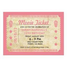 17 Best Movie Ticket Invitation Template Images On Pinterest