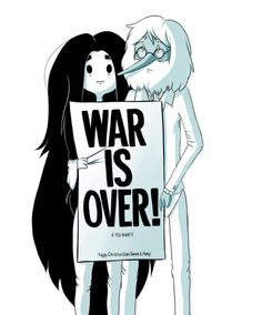 Marceline and Ice king, Adventure Time Or, if we acknowledge the historical truth here, it's a representation of Yoko Ono and John Lennon.