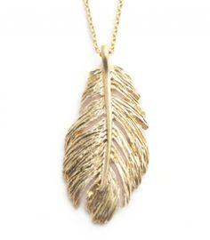 vergoldete Halskette Zauberfeder