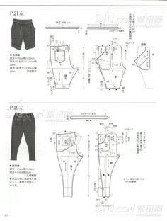 Molderia de pantalones // pants patterns instructions: