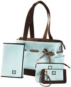 Doesn't everyone need a tiffany blue diaper bag?  <3