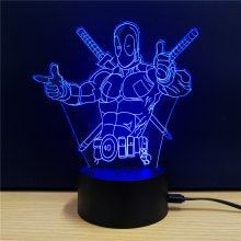 M Sparkling Td112 Creative Superhero 3d Led Lamp 3d Led Lamp 3d Led Night Light Lamp