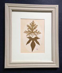 Pressed Botanical Art Scented Geranium Real by MyStoningtonGarden, $60.00