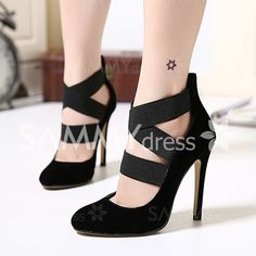 Sexy Women's Pumps With Elastic and Criss-Cross Design