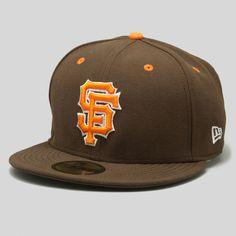 Upper Playground - SF Giants New Era Fitted Cap in Brown Orange New Era  Snapback 61b954da761e
