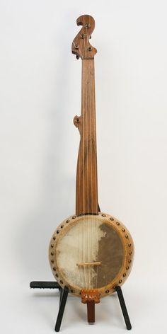 Robert Thornburg Gourd banjo - Bernunzio Uptown Music Old Musical Instruments, Banjo, Vintage Photographs, Dance Music, Gourds, Choir, Concrete, Musicals, Baskets