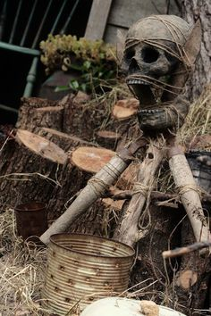 Good props for Voodoo man at Halloween