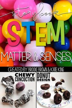 Storybook STEM: Matter and Senses/Properties provides early childhood teachers with weekly all-in-one units to cover essential skills in comprehension, vocabulary, grammar, science, nonfiction research and engineering. ⇒Pop! The Invention of Bubble Gum by Meghan McCarthy ⇒Arnie, the Doughnut by Laurie Keller Includes a comprehension bookmark, ELA lessons, vocabulary activities, Science Spark, nonfiction research, and simple STEM Challenge | First Grade, Second Grade, Third Grade