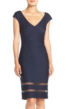 Tadashi Shoji Mixed Media Sheath Dress available at #Nordstrom