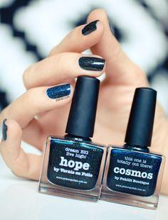 Blue Nailpolish by Picture Polish