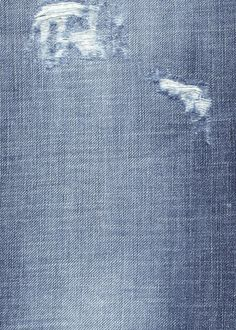 Denim Fabric Texture - Worn Out Blue ... Fabric Swatch ...