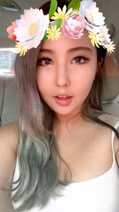 Gray hair  Korean makeup  Angelic makeup  Follow xxdna on instagram to support me ❤️❤️🙈