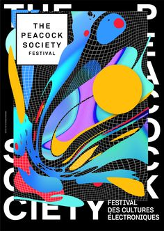 The Secrets Of The Montauban Garden - Irradiated x Peacock Society 2018 poster festival Web Design, Layout Design, Logo Design, Graphic Design Posters, Graphic Design Inspiration, Type Posters, Rock Posters, Poster Layout, A4 Poster