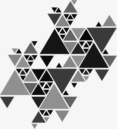 Gray triangle puzzle PNG and Vector Triangle Art, Triangle Design, Triangle Pattern, Geometric Designs, Geometric Shapes, Pattern Art, Pattern Design, Black And White Art Drawing, Clever Tattoos