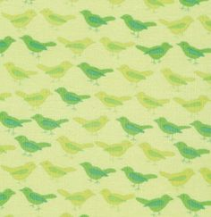 Valori Wells Nest Corduroy  Birds in Lime  by FabricsBoutique, $14.50