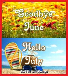 Goodbye June And Welcome July! july hello july july quotes goodbye june happy july hello july quotes goodbye june quotes goodbye june hello july first day of july quotes happy july quotes Happy New Month Messages, New Month Wishes, Bye Bye, Hello July Images, June Quotes, Welcome June, Happy Good Morning Quotes, Happy Quotes, Good Goodbye
