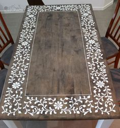 images handpainted dining table - Google Search