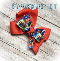 a4d4e95983077 Stocking Stuffer - Red Superhero Handmade Boutique Hair Bow NEW  fashion   clothing  shoes