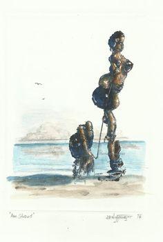 Gemäldemacher . Joachim JORI Niggemeyer: Am Strand - On the Beach