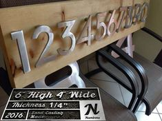 """Modern house numbers (set of 4) aluminum house numbers, metal house numbers, modern font, address numbers / 6"""" inch, 8"""", 12"""" and 15.75"""""""