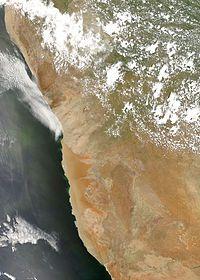 Lists of deserts by area.  Namib desert MODIS.jpg