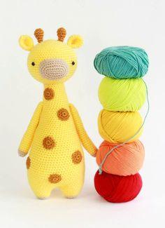 Giraffe crochet pattern by Little Bear Crochets: www.littlebearcrochets.com ❤️ #littlebearcrochets #amigurumi