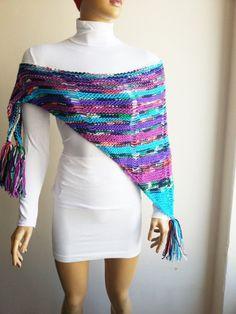 Colorful Triangle Shawl Chunky Knit Shawl Shawl Shrug #woman #gifts #present #sale  #etsy #gifts #ocean #accessory #handmade #UniqueHandmade  #womenfashion #giftforwomen #promomyshop #scarf #Homeslippers #baby #babyshowergift #babydecor #weddingshopping #weddinggift