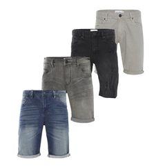 Shine-Original-Herren-Shorts-Schwarz-Grau-Blau-Denim-Stretch-Regular-Fit-Neu