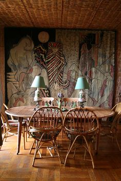 Villa Santo Sospir. Tapestry designed by Jean Cocteau, interior design by…