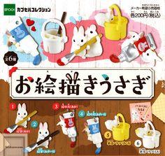 EPOCH human /& bike mini Figures All 4set Gashapon mascot toys Complete set