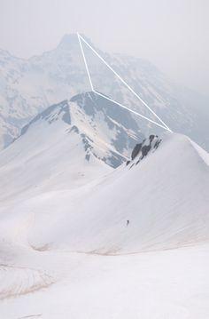 LIKE Design Process, Tool Design, Shape Design, Geometric Shapes, Geometric Designs, Snowy Mountains, White Mountains, Nature Landscape, Nature Sauvage