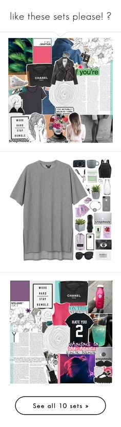 """like these sets please! ❁"" by pheachy ❤ liked on Polyvore featuring Chanel, Monki, Brinkhaus, Converse, Acne Studios, Clips, Assouline Publishing, Topshop, Incase and Pier 1 Imports"