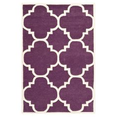Hand-tufted+wool+rug+with+a+quatrefoil+motif.+++Product:+RugConstruction+Material:+100%+WoolColor:+