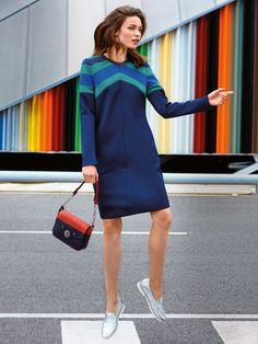 Long Sleeve Scuba Dress pattern - stretch fabrics with some body