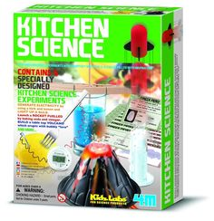 Kitchen Science Kit - There are 6 different experiments in this kit that allow children to explore with items you would normally find in your kitchen!