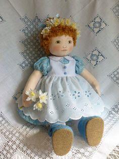"June.a 14"" Rag/cloth handmade artist ooak doll. By Brenda Brightmore | eBay"