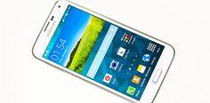 samsung phone on white