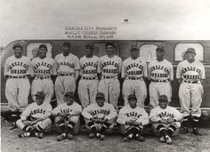 Members of the Kansas City Monarchs Negro League baseball team.  The Negro League(National Association of Colored Professional Base Ball Clubs)was establisthed in 1920 and began with eight teams: Chicago American Giants, Chicago Giants, Cuban Stars, Dayton Marcos, Detroit Stars, Indianapolis ABC's, Kansas City Monarchs and St. Louis Giants.