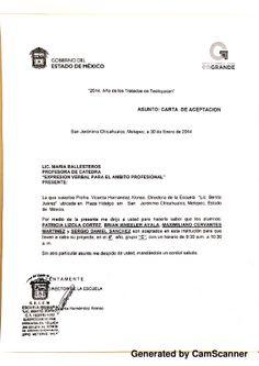 Carta aceptación de proyecto. Patricia Lizola Cortés Brian Wheeler Ayala Sergio Daniel Sánchez Maximiliano Cervantes Martínez