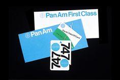 Pan Am by Edward Larrabee Barnes/Charles Forberg/Ivan Chermayeff, US, redesigned by Chermayeff & Geismar, US, 1971 Pan Am, Identity Design, Visual Identity, Brand Identity, Ivan Chermayeff, Print Design, Graphic Design, Creative Review, Branding