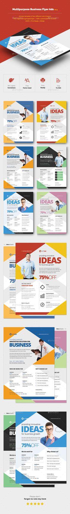 Multipurpose Business Flyer Template PSD #design Download: http://graphicriver.net/item/multipurpose-business-flyer-vol5/14200781?ref=ksioks