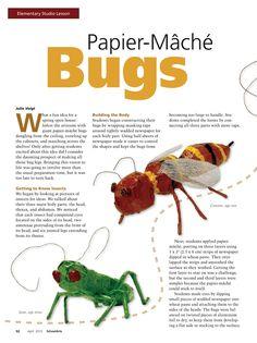 Papier-Mache Bugs #Elementary #ArtLesson #ArtEd #papiermache