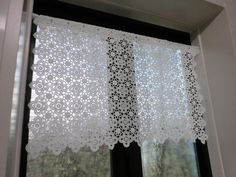 Ravelry: Matsu-kzy's Cafe curtain of Cafe Curtains, Valance Curtains, Window Coverings, Window Treatments, Crochet Curtains, Coffee Crafts, Filet Crochet, Beautiful Crochet, Blinds